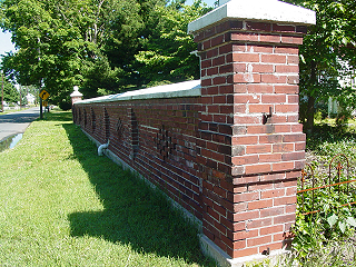 Free The Decorative Brick Wall In Front Of The George H Grandfield House  June This Used To Extend Further Inside The Property And Had Gates With  Decorative ...